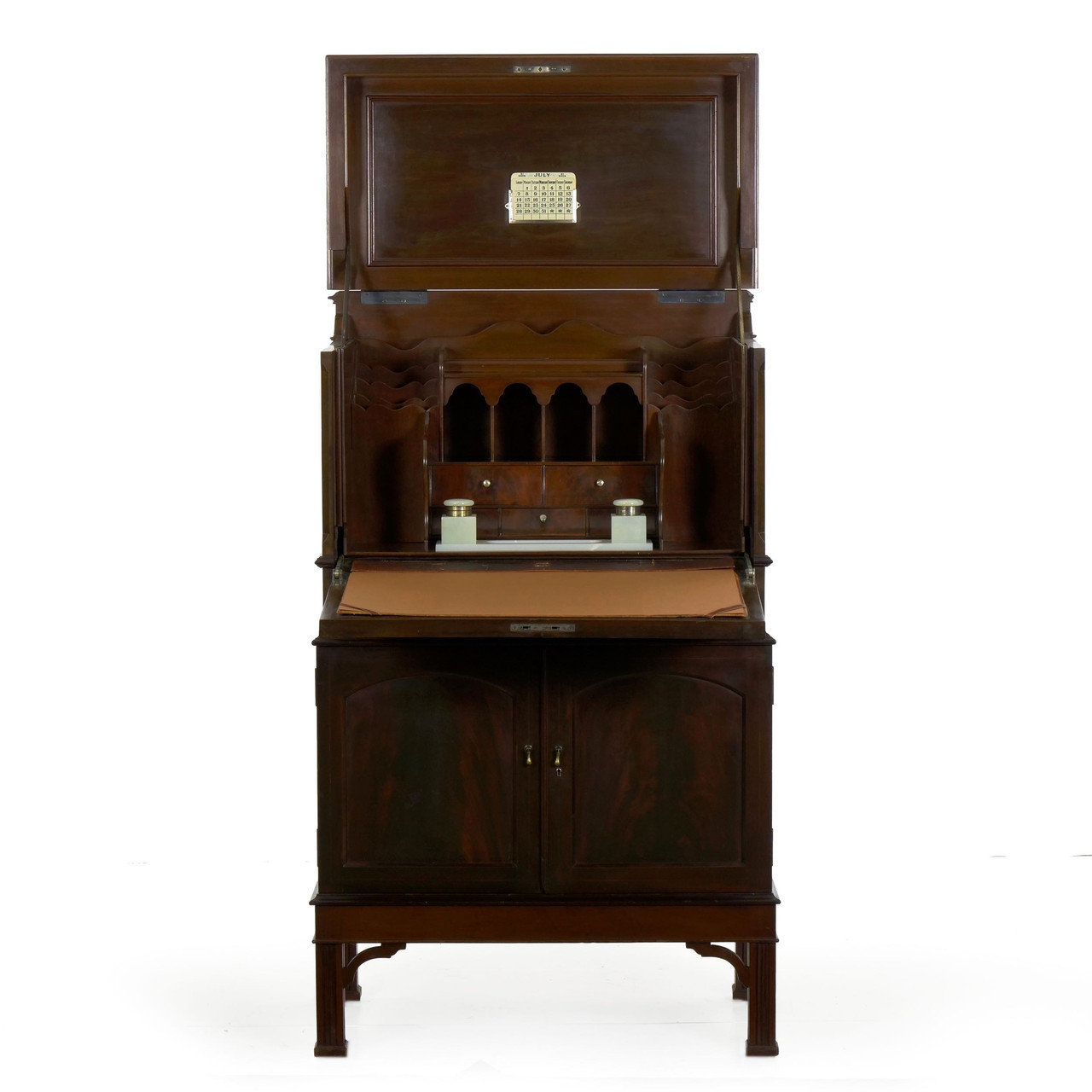 Superb Edwardian Mahogany Secretary Desk W Built In Safe Home Interior And Landscaping Mentranervesignezvosmurscom