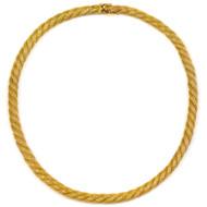 "Vintage 14k Gold Mesh Choker Necklace   15"" long, 31.7 grams"
