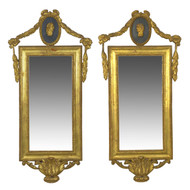 Pair of Italian Neoclassical Giltwood Wall Mirrors | Early 19th Century
