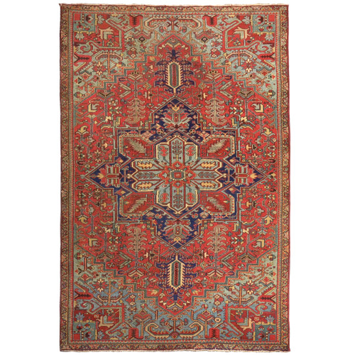 Room Size Antique Heriz Rug | Persia, circa 1910 | 12' x 6.5'