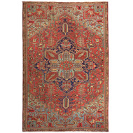 Room Size Antique Heriz Rug | Persia, circa 1910 | 12' x 6.5'