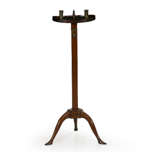 George III Ratcheting Two-Light Candle Stand   England, circa 1760