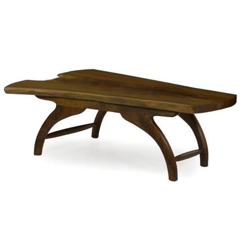 Modern Free-Form Live Edge Walnut Coffee Table | Philip Andrews