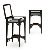 Pair of Gothic Chippendale Style Vitrine Accent Tables | England c. 1890