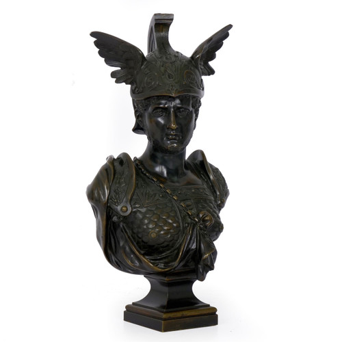 Grand Tour Bronze Bust of Achilles | 19th Century
