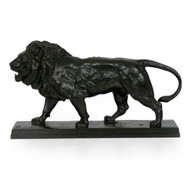 """Lion Marchant"", bronze sculpture 