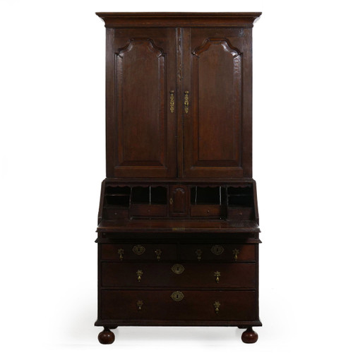 Queen Anne Patinated Oak Secretary Desk | England, 18th Century