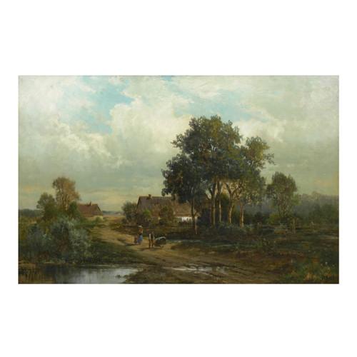 """Bamberg, Bavaria"", antique painting | Carl Weber (American, 1855-1929)"