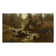 """Picnic on Lester River, Duluth"", oil painting 