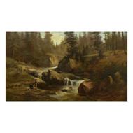 """Picnic on Lester River, Duluth"", oil painting | Feodor Von Luerzer"