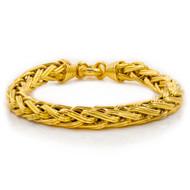 "Estate Italian 14 Karat Gold Weave Chain Bracelet   8"" long"