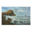 """Coastal Seascape"" (1934), antique oil painting on canvas 