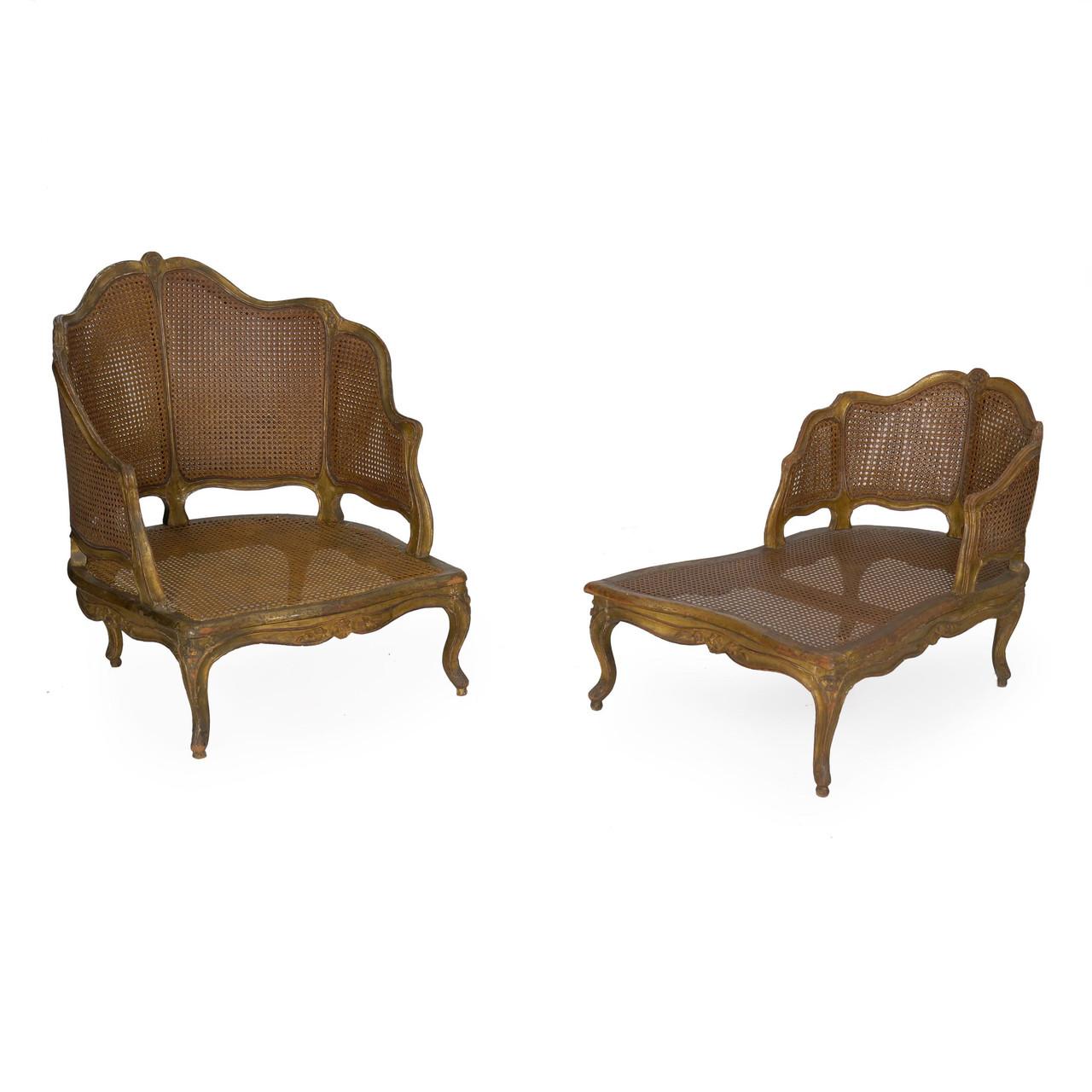 Chaise Style Art Nouveau louis xv style duchesse brisée chaise longue | french, 19th century