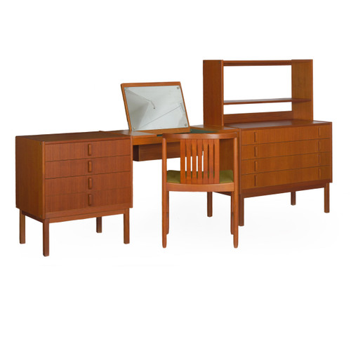 "Swedish Modern ""Variett"" Teak Dresser Set 