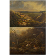 A Pair of Hunt Scenes, oil on canvas | British School (19th Century)