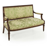 French Directoire Style Bronze-Mounted Walnut Settee