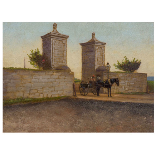 """""""The City Gate, St. Augustine"""" (1893), oil on panel 