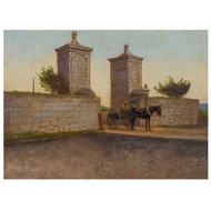 """The City Gate, St. Augustine"" (1893), oil on panel 