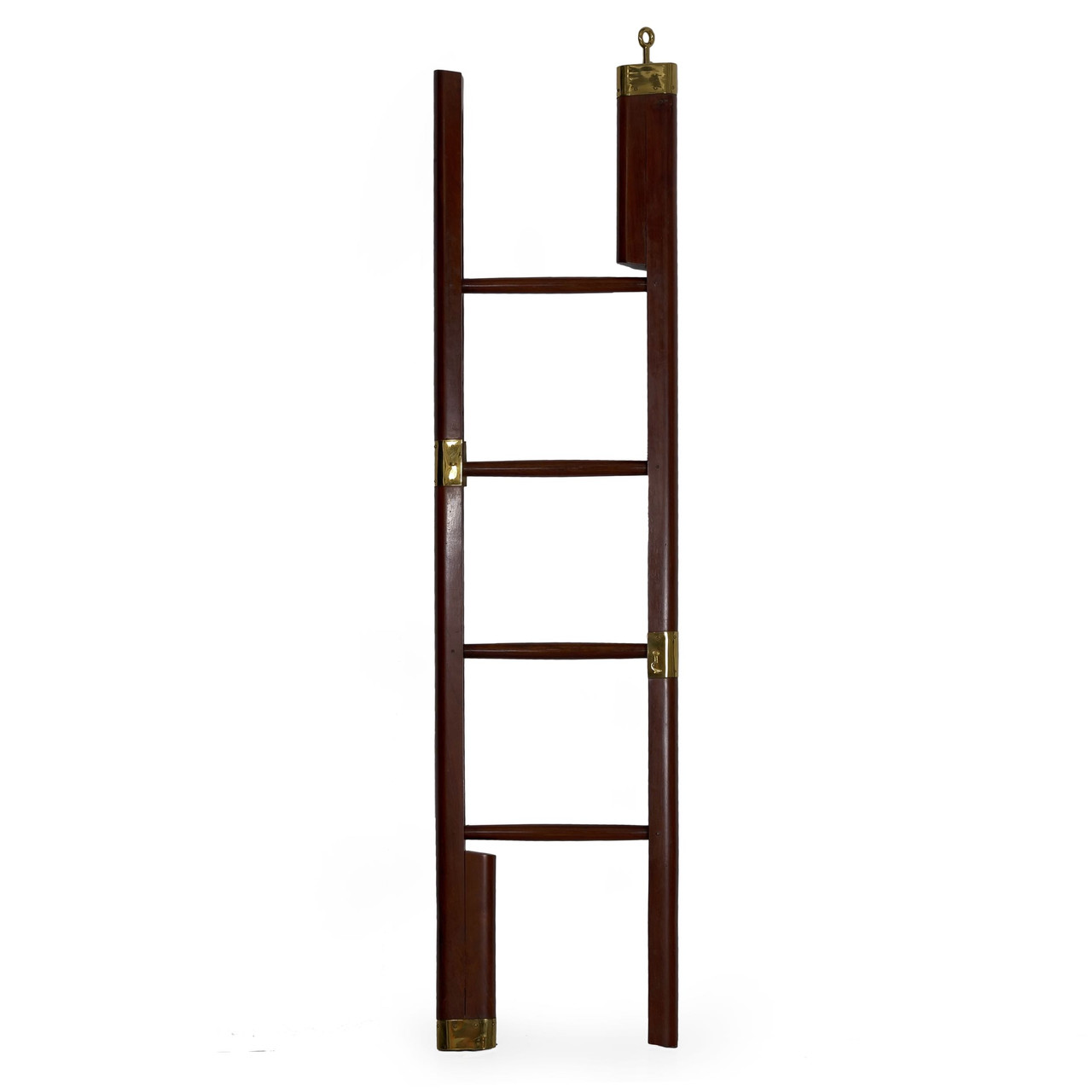 Regency Mahogany Brass Mounted Library Ladder England 19th Century