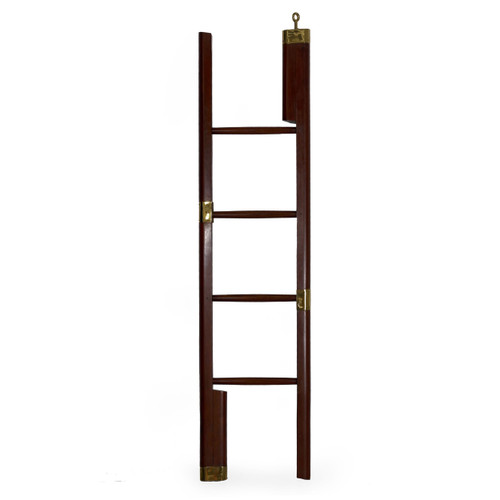 Regency Mahogany Brass-Mounted Library Ladder | England, 19th Century