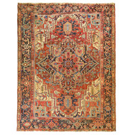 Room Size Antique Heriz Rug | Persia, circa 1910