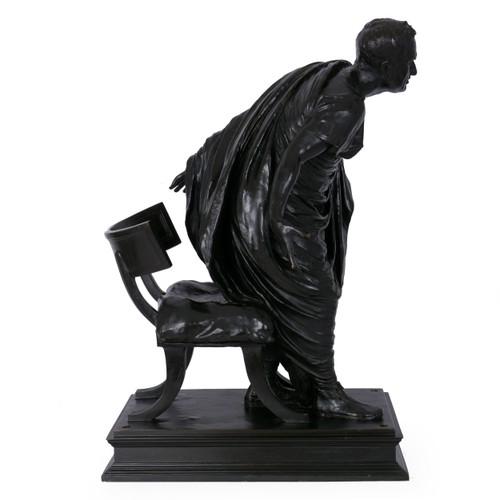 """Cicero / QVOVSQVE TANDEM"", patinated bronze | Vincenzo Alfano"