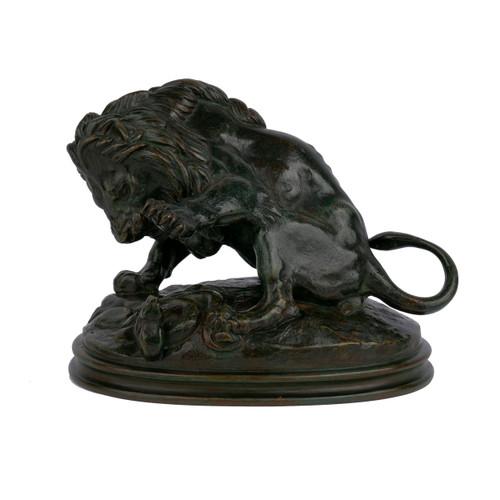 """""""Lion au Serpent"""", bronze   Antoine-Louis Barye, Delafontaine"""