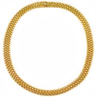 "Vintage 14k Woven Gold Necklace   18 1/2"" long, 58.9 grams"