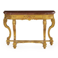 Neoclassical Giltwood Pier Table with Red Marble Top, 20th Century