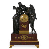 """Cupid & Psyche"", An Exceptional Empire Mantel Clock 