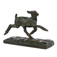 """Chevreau Courant"", bronze sculpture 