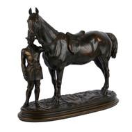 """Walter Scott: Cheval de Selle de L'Empereur"", bronze sculpture | Alfred Barye"