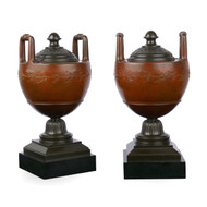 Pair of Polychromed and Patinated Bronze Urns | Circa 1880