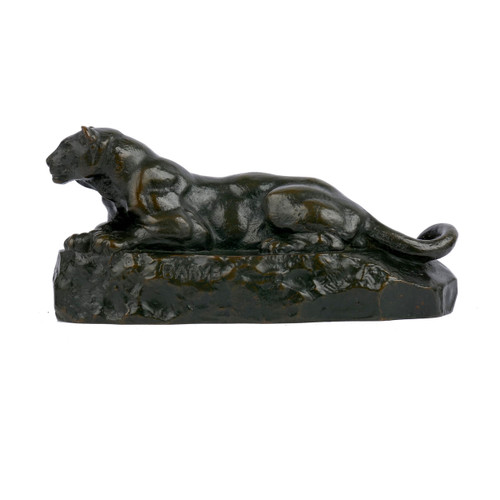 """Panther of Tunisia"", bronze sculpture 