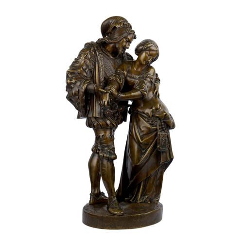 """""""Faust et Marguerite"""", bronze sculpture   Denière"""
