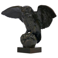 """Hibou"", bronze sculpture 