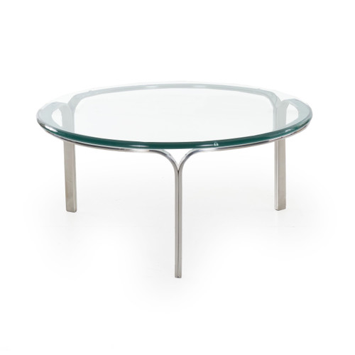 Steel and Glass Ribbon Coffee Table | Nicos Zographos, circa 1960s