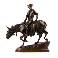 """Spanish Rider"", bronze sculpture | Isidore Bonheur"