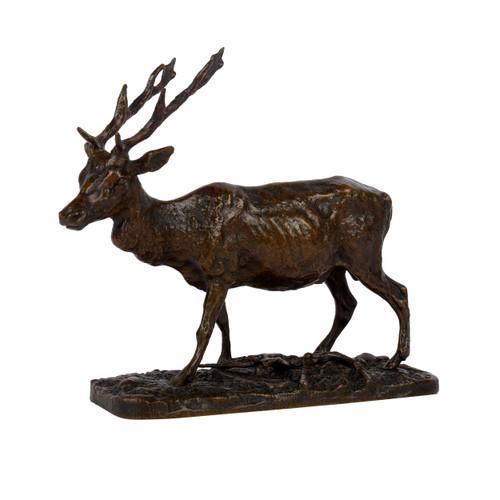 """Cerf"", bronze sculpture | Pierre Jules Mene"