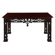 George II Style Carved Mahogany Library Table | England, 20th Century