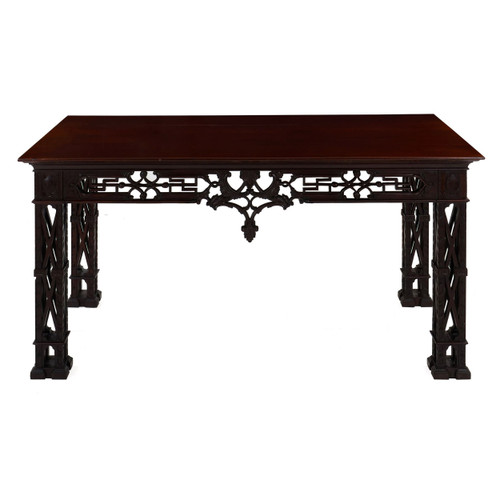 George II Style Carved Mahogany Library Table   England, 20th Century