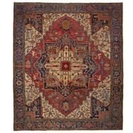 Antique Room-Size Heriz with Serapi Colors circa 1900 | 13.25' x 11.5'