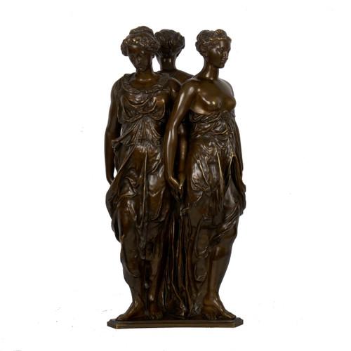 """Three Graces"", bronze sculpture | aft Germain Pilon, casting by Victor Paillard"