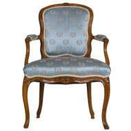 French Louis XV Carved Beechwood Fauteuil | 18th Century