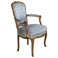 Louis XV Carved Beechwood Fauteuil | 18th Century