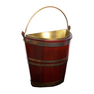 George III Brass-Bound Mahogany Peat Bucket of Navette form