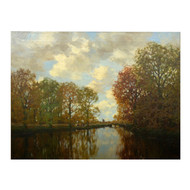 """River View in Autumn"", oil painting 