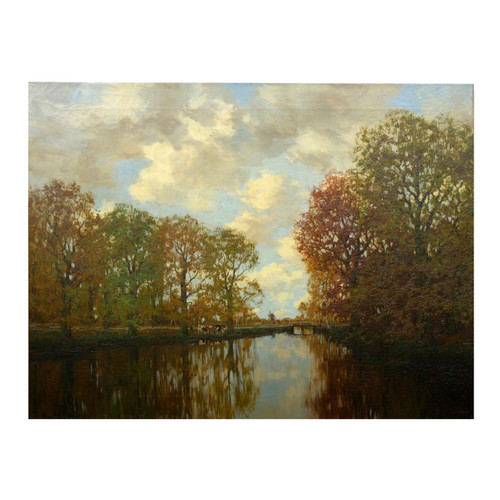 """""""River View in Autumn"""", oil painting 