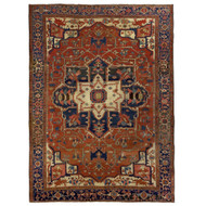 Fine Room Size Antique Heriz Rug circa 1900 | 13.5' x 10'