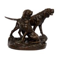 """Ménélas et Grondeur, Saint-Hubert Dogs"" (1886), bronze sculpture | Léon Bureau"